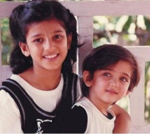 Shruti Haasan childhood pictures