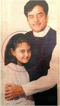 Sonakshi And Shatrughan Sinha Childhood Pictures