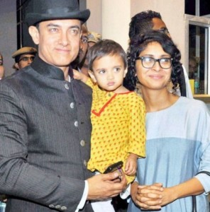 Aamir khan family photos wife Kiran Rao and son Azad Rao Khan