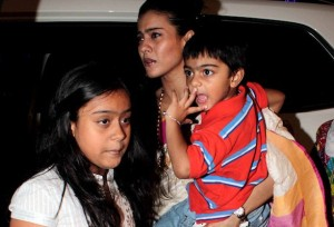 Ajay Devgn family photos children Nysa Yug