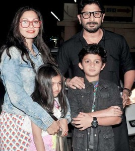 Arshad Warsi family photos son Zeke Warsi daughter Zene Zoe Warsi