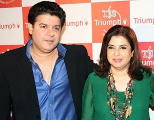 Farhan Akhtar family photos cousins Farah Khan and Sajid Khan