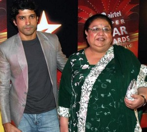 Farhan Akhtar family photos mother Honey Irani