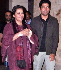 Farhan Akhtar family photos step mother Shabana Azmi