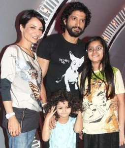 Farhan Akhtar family photos wife and children