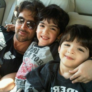 Hrithik Roshan family photos sons Hrehaan and Hridhaan