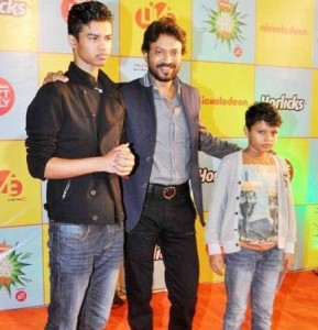 Irrfan Khan family photos children Babil and Aryan