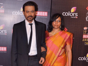 Irrfan Khan family photos wife Sutapa Sikdar