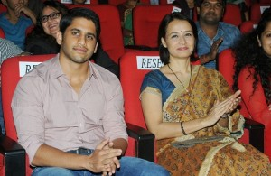 With step mother Amala Akkineni