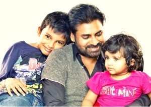Son Akira Nandan Konidela and daughter Aadhya Konid