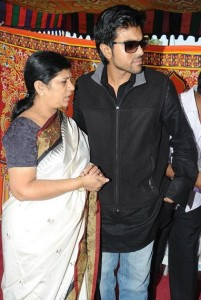 Ram Charan Teja family photos mother Surekha Konidela