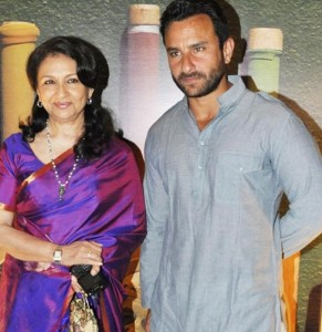 Saif Ali Khan family photos mother Sharmila Tagore
