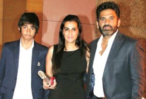 Suniel Shetty family photos son  Ahan Shetty