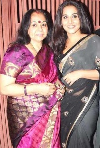 Vidya Balan family photos mother Saraswathy Balan