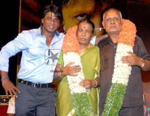 Duniya Vijay parents father  Rudrappa and mother Narayanamma