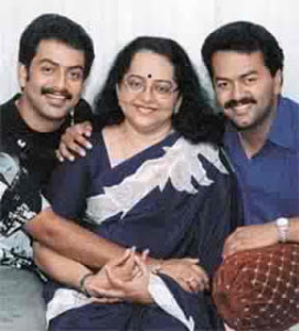 Prithviraj Sukumaran parents mother Mallika Sukumaran