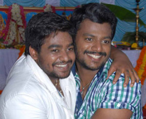Komal Kumar nephews Guru Raj and Yethi Raj