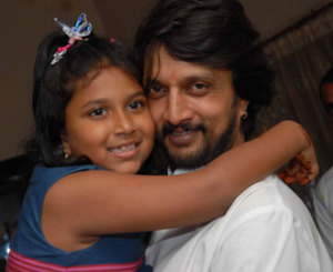 Kannada actor Sudeep daughter Saanvi