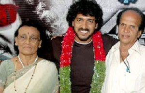 Kannada actor Upendra parents , father Manjunath Rao and mother Anasuya