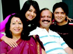 Radhika Pandit parents father Krishnaprasad Pandit  mother Mangala brother Gourang