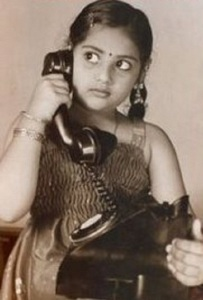 Actress Meena Childhood pictures 2