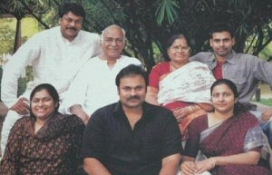 Chiranjeevi parents father Konidela Venkat Rao and mother Anjana Devi