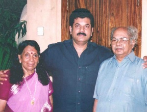 Malayalam actor Mukesh parents father O Madhavan and mother Vijayakumari