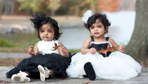 Manchu Vishnu children twin baby girls Ariaana and Viviana