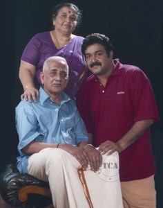 Mohanlal parents father Viswanathan Nair and mother Santhakumari