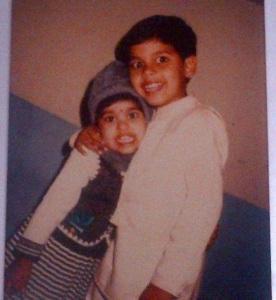 Bindu Madhavi Childhood pictures and her elder brother sagar