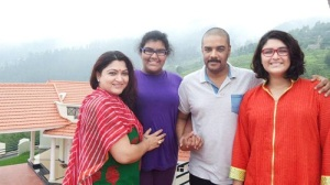Khushboo Sundar children daughters Avanthika and Ananditha