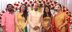 Malayalam actress Bhavana parents father G.Balachandran