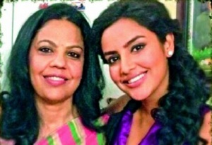 Priya Anand parents mother Radha