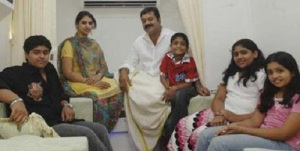 Suresh Gopi children daughter Lakshmi, son Gokul, daughter Bhagya, daughter Bhavna and son Madhav