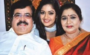 Meghana Raj parents father Sundar Raj