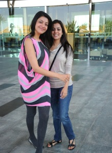 Kajal Nisha Agarwal Photos @ Telugu Warriors Team Sharjah Dubai