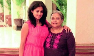 Priyamani parents mother Latha Mani