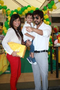 Aashish Chaudhary children son Agastya