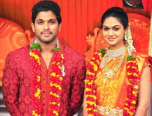Allu Sirish Brother Allu Arjun and sister in law Sneha Reddy