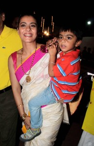 Tanisha Mukherjee elder sister Kajol's children son Yug