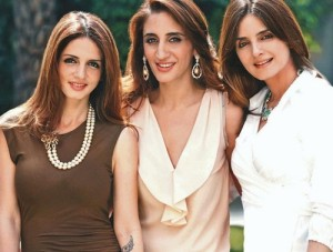 Suzanne Khan, Farah Khan Ali and Simone Khan