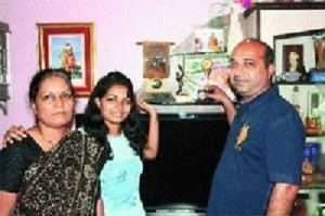 Ajinkya Rahane Parents father Madhukar Baburao Rahane and  mother Sujata Rahane