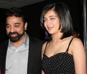 Akshara Haasan Parents father Kamal Haasan