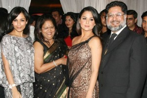 Amrita Arora Parents father Anil Arora and mother Joyce Polycarp