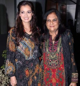 Dia Mirza Parents mother Deepa