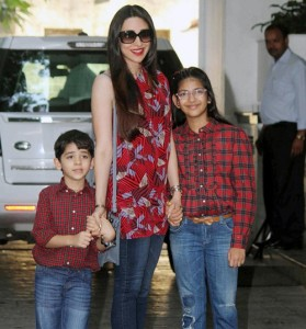 Karisma Kapoor children son Kiaan Raj Kapoor and daughter Samiera