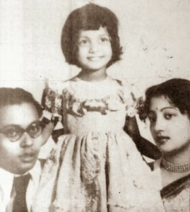 Moon Moon Sen parents father Dibanath sen