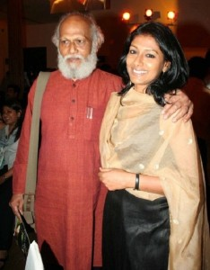 Nandita Das parents father Jatin Das
