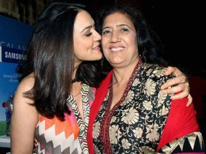 Preity Zinta parents mother Nilprabha
