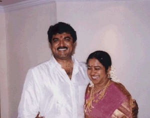 Raadhika Sarathkumar Wedding photos with Sarathkumar